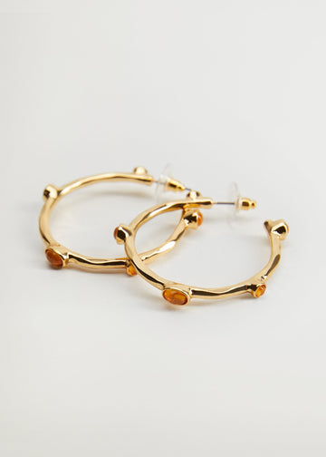 Mango Resin Hoop Earrings 77014421-OR