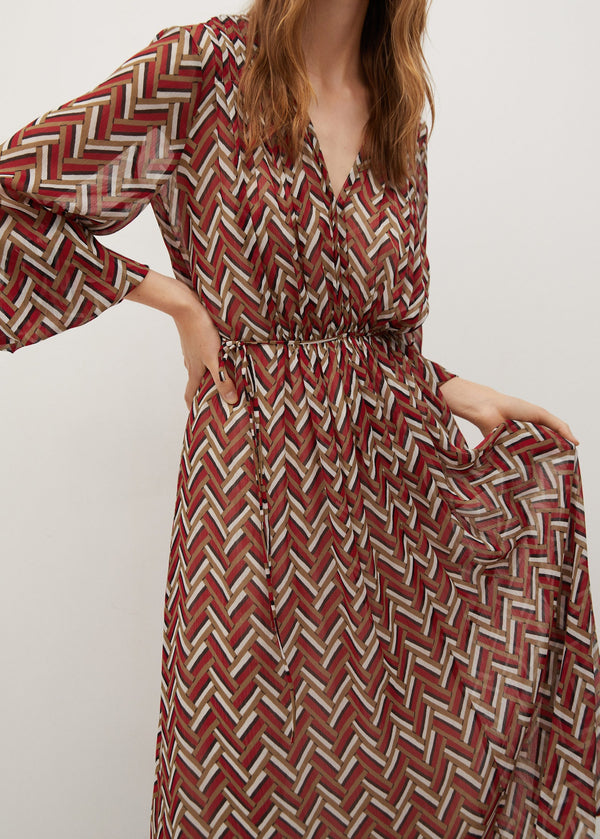 Mango Ethnic Print Dress 77015963-70
