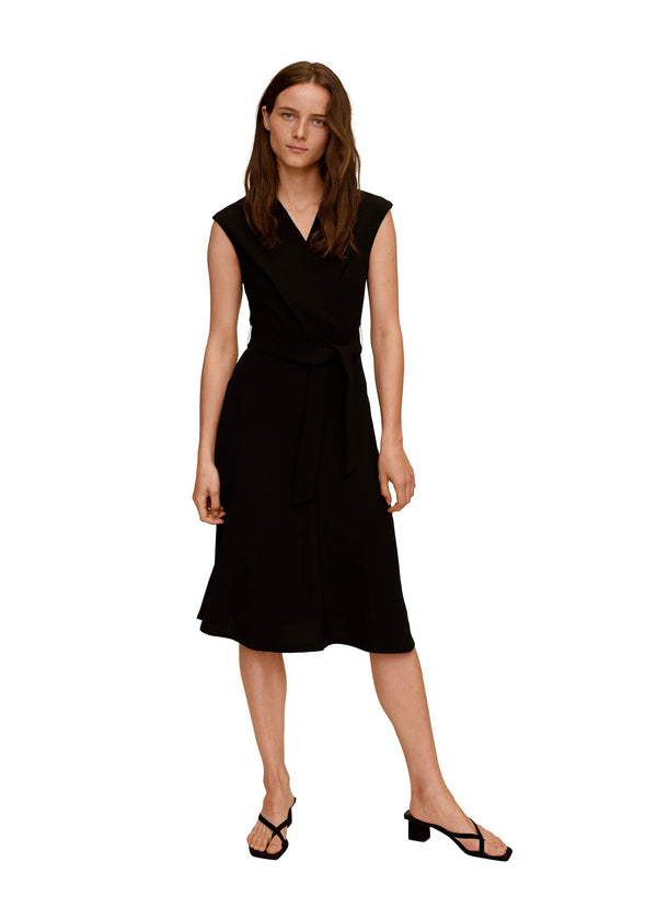 Mango Wrap Neckline Dress 77024417-99