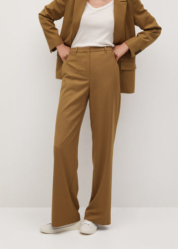 Mango Straight Suit Trousers 77025920-09