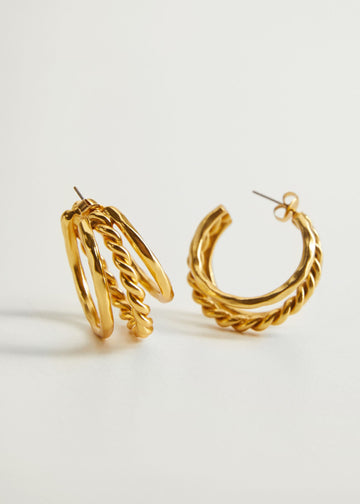 Mango Mixed Hoop Earrings 77026320-OR