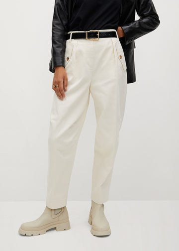 Mango Slouchy Cotton Trousers 77028629-05