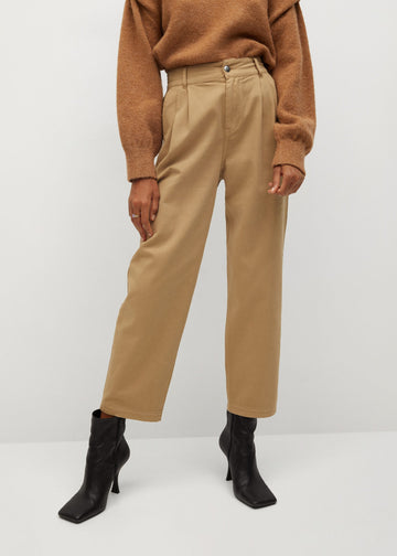 Mango Cotton Pleated Trousers 77037107-07