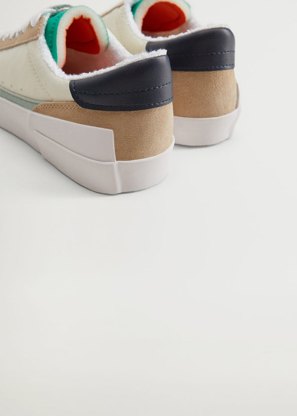 Mango Sustainable Leather Sneakers 77040527-01
