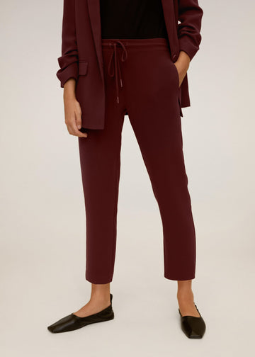 Mango Straight Suit Trousers 77042520-76