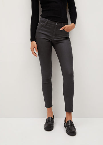 Mango Coated Isa Crop Skinny Jeans 77045903-30