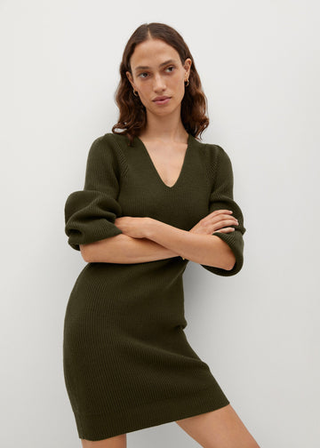 Mango Fine Knitted Dress 77047610-37