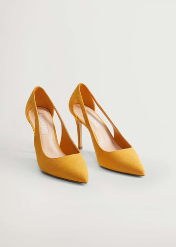 Mango Pointed Toe Heel Shoes 77050556-15
