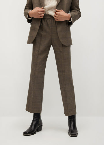 Mango Check Suit Trousers 77057886-30