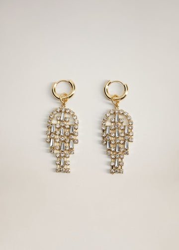 Mango Rhinestone Pendant Earrings 77064408-OR