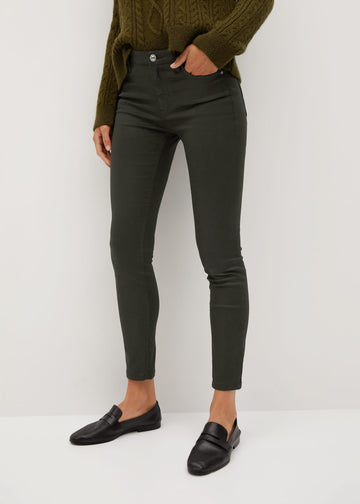 Mango Coated Isa Crop Skinny Jeans 77065902-37