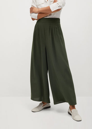 Mango Pleated Culotte Trousers 77065949-37