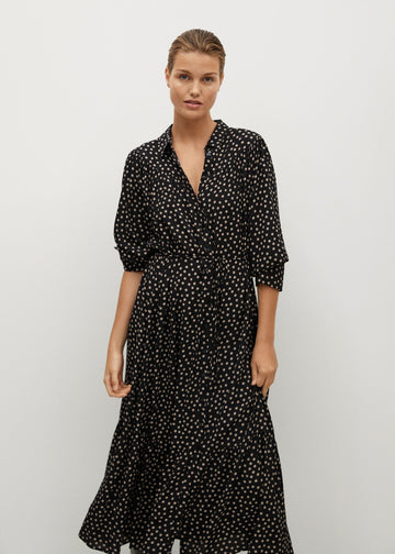 Mango Ruffle Printed Dress 77067892-99
