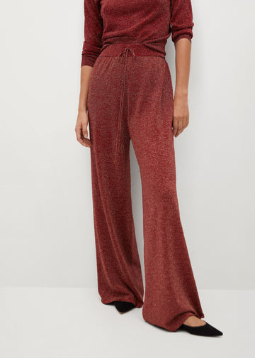 Mango Glossed Effect Knit Trousers 77069205-70