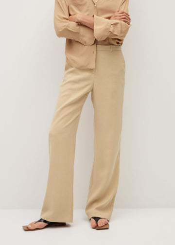 Mango Flowy Straight-Fit Trousers 77072510-08