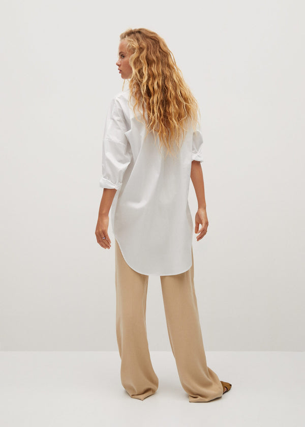 Mango Oversize Cotton Shirt 77075949-01