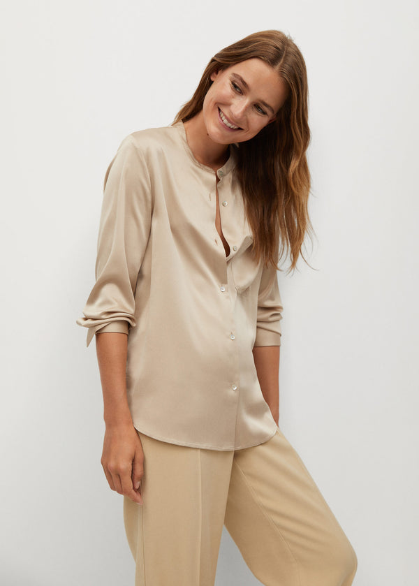Mango Satin Finish Flowy Shirt 77084410-08