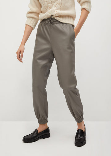 Mango Faux-Leather Trousers 77096309-92