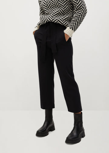 Mango Bow Straight Trousers 77098253-99