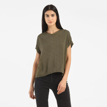 LEVIS CHIARA WOVEN 79128-0000 FASHION TOP SHORT SLEEVE (W)