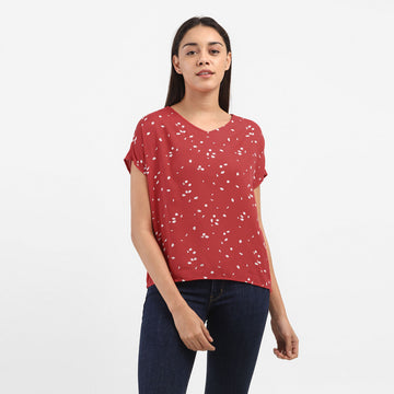 LEVIS CHIARA WOVEN 79128-0001 FASHION TOP SHORT SLEEVE (W)