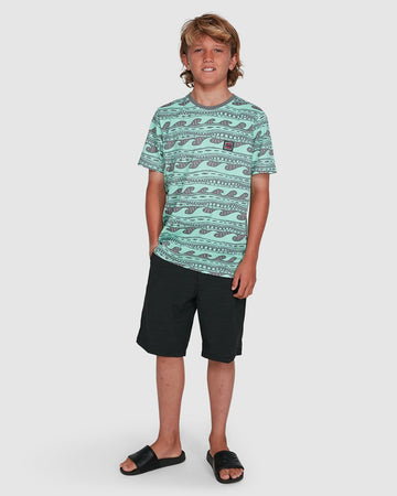 BILLABONG RACK STRIPE 8503030-SGL T-SHIRT SHORT SLEEVE (YB)