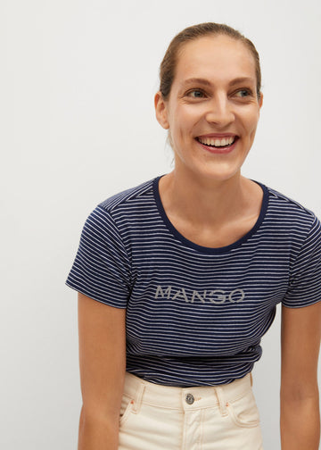 Mango Logo Organic Cotton T-Shirt 87000550-56