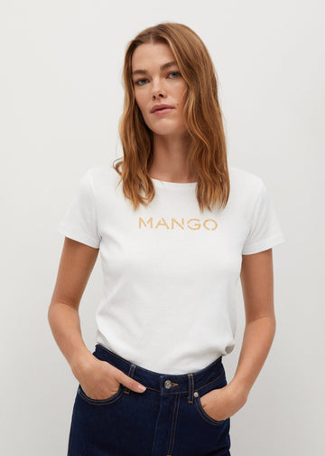 Mango Logo Organic Cotton T-Shirt 87000557-01