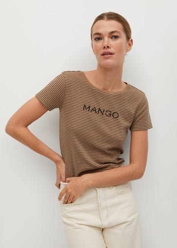 Mango Logo Organic Cotton T-Shirt 87000557-09