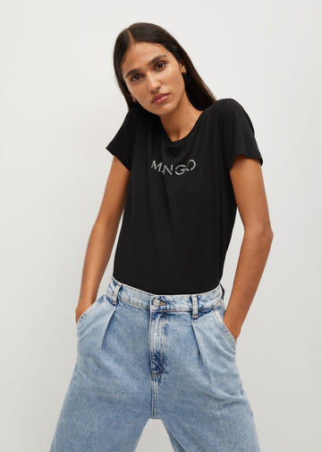 Mango Logo Organic Cotton T-Shirt 87000557-99