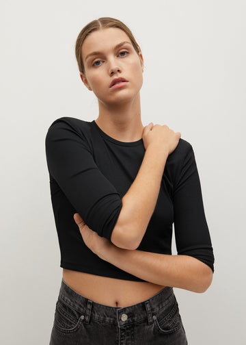 Mango Long Sleeves Crop T-Shirt 87010572-99