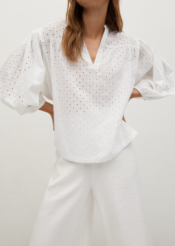 Mango Openwork Cotton Blouse 87040536-02