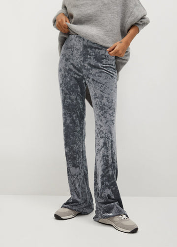 Mango Flared Velvet Trousers 87060532-PL