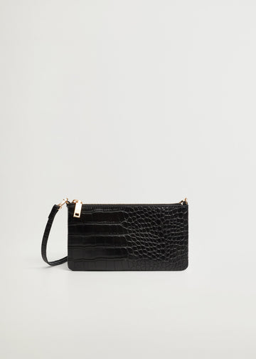 Mango Croc-Effect Cross Body Bag 87060566-99