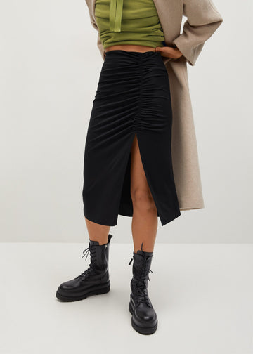 Mango Draped Pencil Skirt 87070569-99