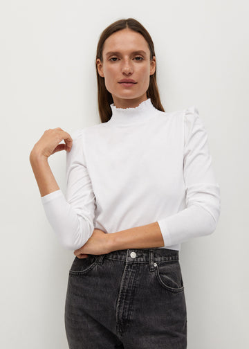 Mango Turtleneck Organic Cotton T-Shirt 87090530-01