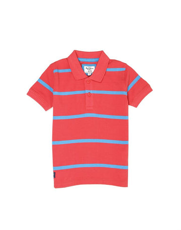 Pepe Jeans Kyle Jr Ss Ip PB540653 DARK CORAL Polo T-Shirt Young Boys