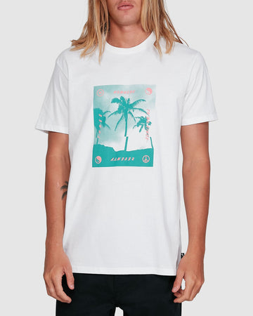 BILLABONG CUT PALM 9503039-WHT T-SHIRT SHORT SLEEVE (M)