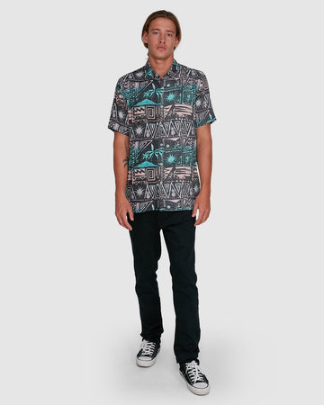 BILLABONG SUNDAYS TRIBES 9503207-MUL SHIRT SHORT SLEEVE (M)
