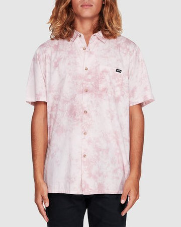Billabong Sundays Tie Dye Ss 9507205-PNK Shirt Short Sleeve (M)