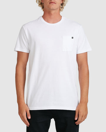 BILLABONG PREMIUM POCKET 9562046-WHT T-SHIRT SHORT SLEEVE (M)
