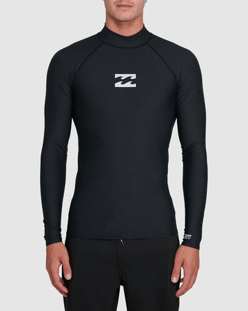 BILLABONG ALL DAY WAVE PF LS 9703509-BLK RASH GUARD LONG SLEEVE (M)