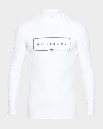 Billabong Union 9791502S-WHI Rash Guard Long Sleeve (Yb)