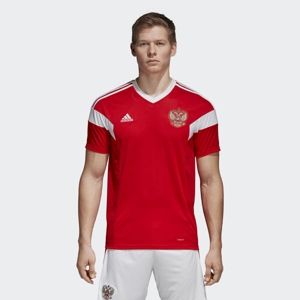 adidas Red Jersey Short Sleeve Football (m)