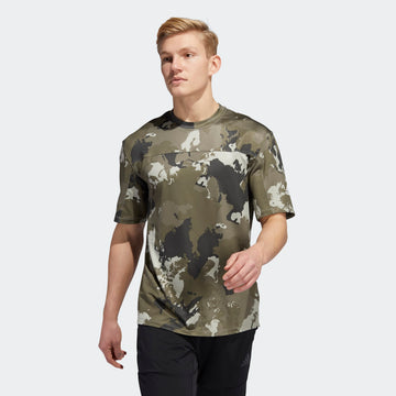 ADIDAS CON CAMO GC8265 T-SHIRT SHORT SLEEVE TRAINING (M)