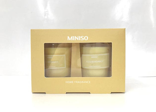 MINISO SCENTED CANDLE 2 PACK(FIG&BERGAMOT) 2008191611102 CANDLE