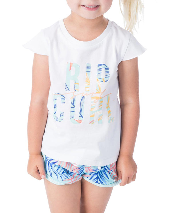 Rip Curl Mini Coco Sands Tee FTEBR1-1000 T-Shirt Short Sleeve (Yg)