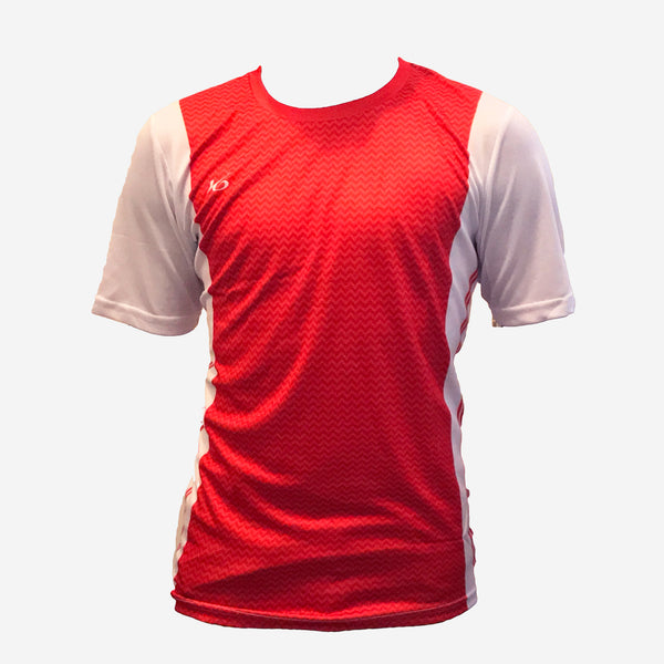 K6 Red Jersey Short Sleeve Football  Uniform.