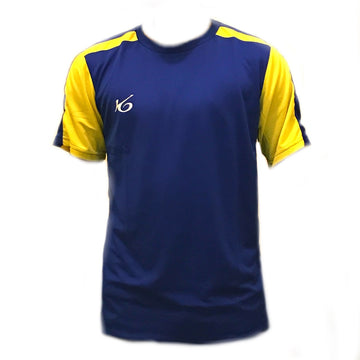 Blue/Yellow K6 Short Sleeve Football Uniform