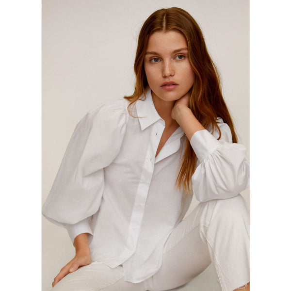 Mango Women Shirt Long Sleeve Balo Camisa Plana 67095136-2